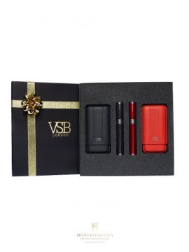 VSB London Black and Red Gift Set