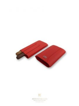 VSB Red Leather Cigar Case